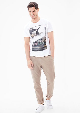 Slim: T-shirt with a print from s.Oliver