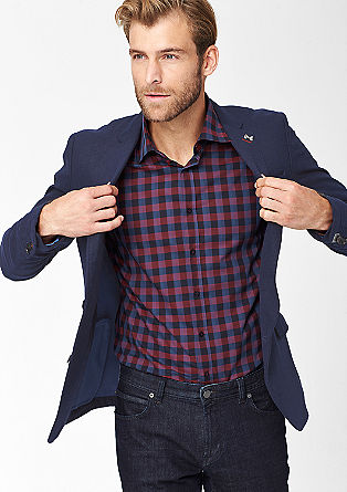 Slim: tailored jacket in a felt finish from s.Oliver