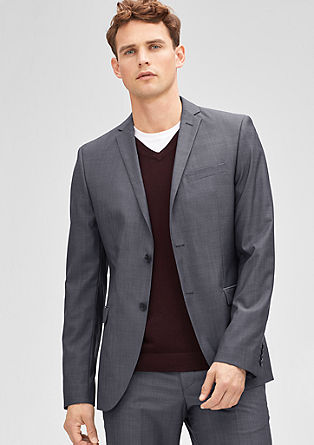 Slim: tailored jacket in a new wool blend from s.Oliver