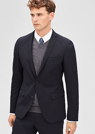 Slim: tailored jacket in stretchy new wool from s.Oliver