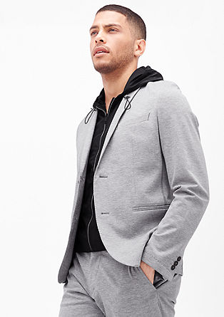 Slim: Tailored jacket with a hooded body warmer from s.Oliver