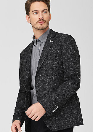 Slim: Tailored jacket with a percentage of wool from s.Oliver