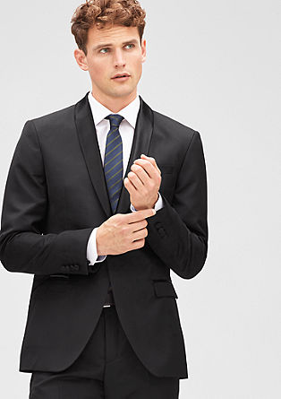 Slim: tailored jacket with a satin shawl collar from s.Oliver