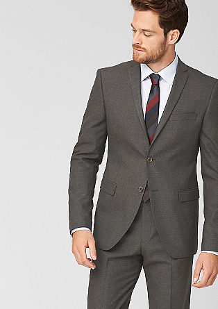 Slim: tailored jacket with a woven texture from s.Oliver