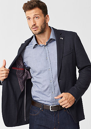 Slim: tailored jacket with elbow patches from s.Oliver
