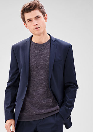 Slim: tailored jacket with new wool from s.Oliver