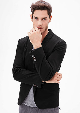 Slim: tailored jacket with space lining from s.Oliver