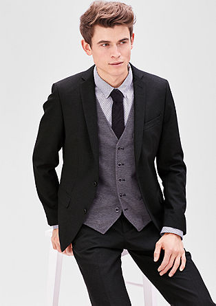 Slim: Tailored new wool party jacket from s.Oliver