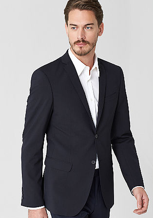 Slim: tailored pinstripe jacket from s.Oliver