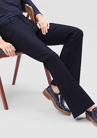 Slim: temne jeans hlače na zvon