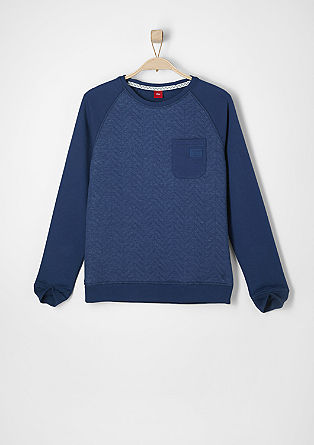 Slim: textured sweatshirt from s.Oliver