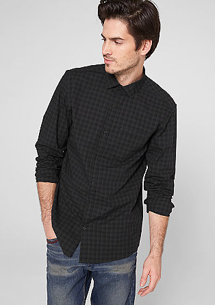Slim: tone-in-tone check shirt from s.Oliver