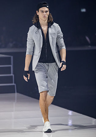 Slim: Tracksuit suit Bermudas from s.Oliver