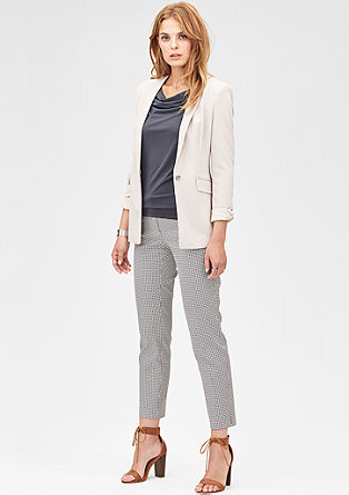 Slim: trousers with a jacquard pattern from s.Oliver