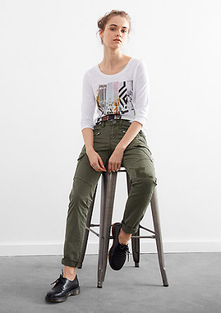 Slim: Trousers with cargo pockets from s.Oliver