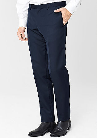 Slim: trousers with contrasting details from s.Oliver