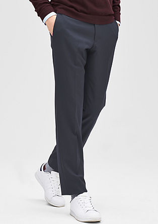 Slim: Trousers with tone-in-tone stripes from s.Oliver