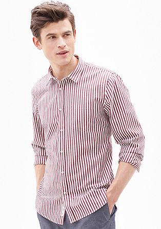 Slim: Verkürztes Streifenhemd