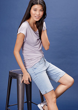 Slim: vintage shorts with a wide waistband from s.Oliver
