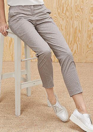 Slim: vzorované 7/8 kalhoty
