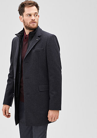 Slim: wool blend coat with an insert from s.Oliver