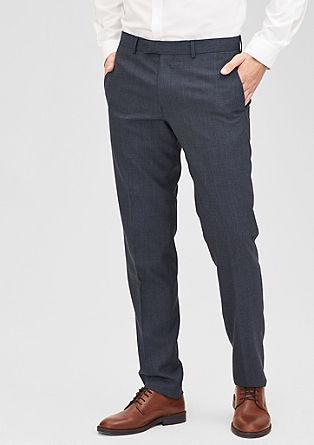 Slim:Anzughose aus Schurwoll-Mix