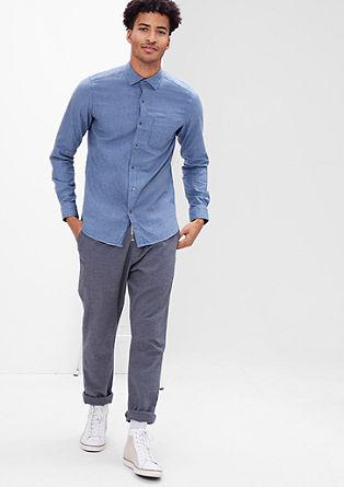 Slim:Hemd mit Strukturmuster