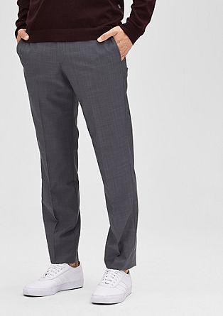 Slim fit: broek van een scheerwolmix
