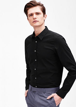 Slim fit: business overhemd met stretch