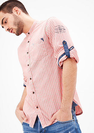 Slim fit: chambray overhemd