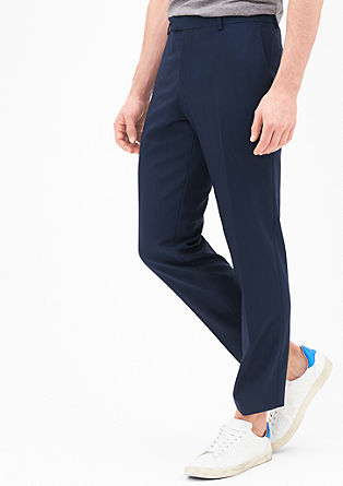 Slim fit: fijn gestructureerde pantalon