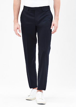 Slim fit: fijngestructureerde pantalon