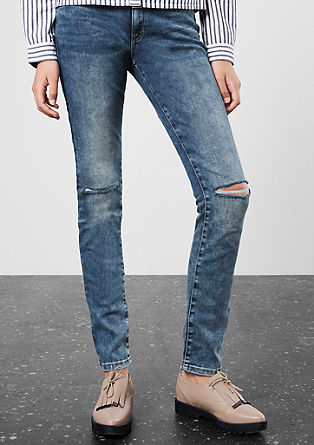 Slim fit: heavy stone washed jeans