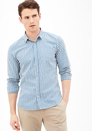 Slim fit: Iets korter, gestreept overhemd
