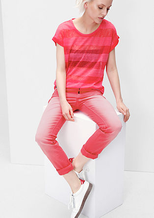 Slim fit: jeans met kleurverloop