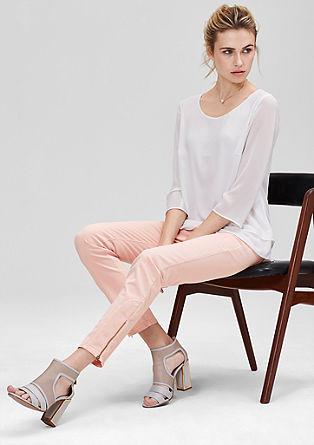 Slim fit: jeans met ritsen aan de pijpen