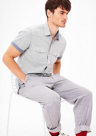 Slim fit: jersey overhemd