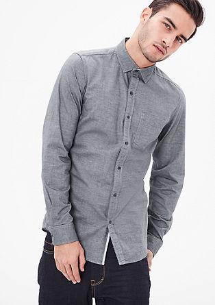 Slim fit: klassiek overhemd van katoen