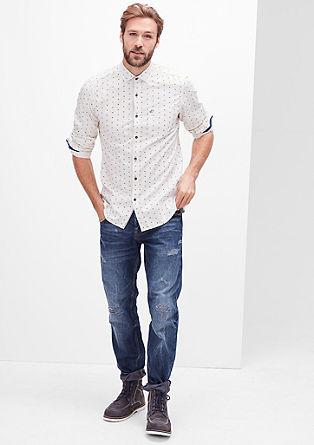 Slim fit: luchtig overhemd van twill