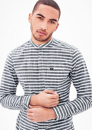 Slim fit: overhemd in maritieme look