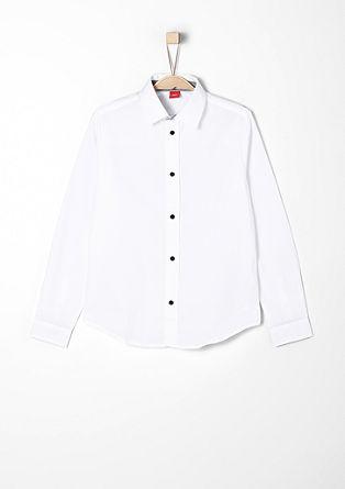Slim fit: overhemd met contrasterende details