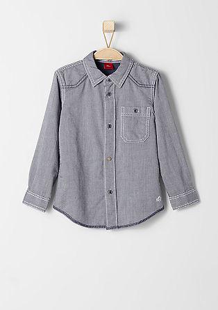 Slim fit: overhemd met een geweven structuur