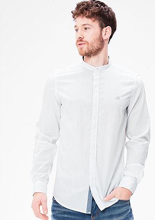 Slim fit: overhemd met gestructureerd motief