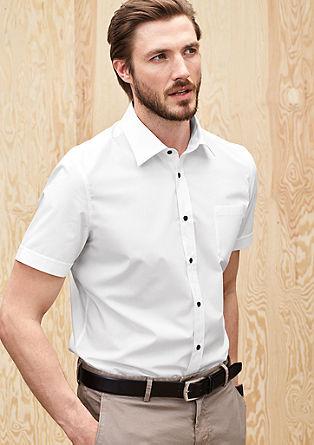 Slim fit: overhemd met korte mouwen