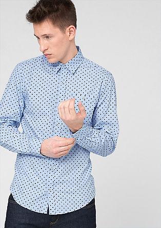 Slim fit: overhemd met motiefprint