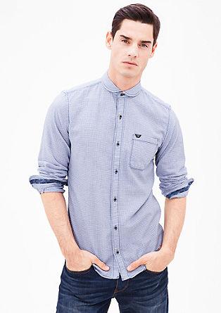 Slim fit: overhemd met pied-de-poule