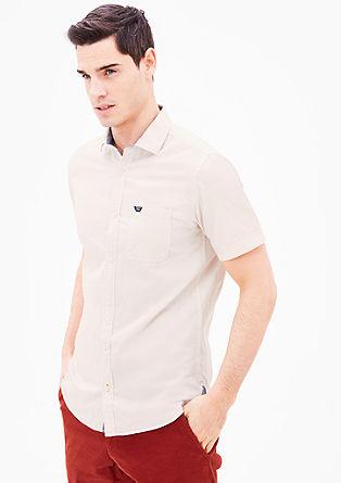 Slim fit: overhemd met weefstructuur