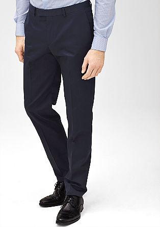 Slim fit: pantalon met een fijne geweven structuur