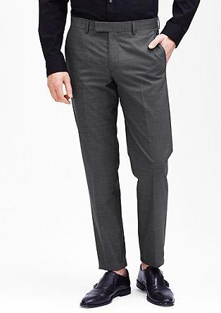 Slim fit: pantalon met een geweven motief