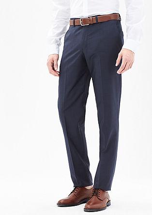 Slim fit: pantalon met fijne textuur